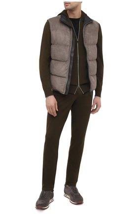 Мужские замшевые кроссовки LORO PIANA серого цвета, арт. FAL5055 | Фото 2