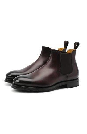 Мужские кожаные челси DOUCAL'S темно-коричневого цвета, арт. DU2752KEYRUF194TM02 | Фото 1