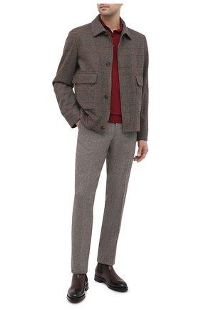Мужские кожаные челси DOUCAL'S темно-коричневого цвета, арт. DU2752KEYRUF194TM02   Фото 2