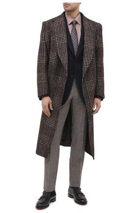 Мужская хлопковая сорочка BRIONI коричневого цвета, арт. SCDN0L/09003 | Фото 2