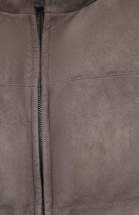 Мужской пуховый жилет BRIONI коричневого цвета, арт. PLV70L/09738 | Фото 5