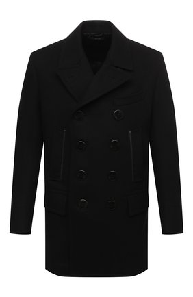 Мужской шерстяное пальто TOM FORD черного цвета, арт. BV048/TF0715 | Фото 1