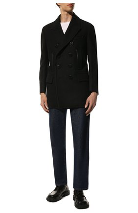 Мужской шерстяное пальто TOM FORD черного цвета, арт. BV048/TF0715 | Фото 2