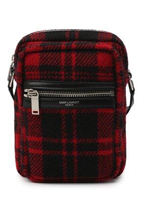 Мужская текстильная сумка sid SAINT LAURENT красного цвета, арт. 581700/GKP7E   Фото 1