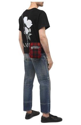 Мужская текстильная сумка sid SAINT LAURENT красного цвета, арт. 581700/GKP7E   Фото 2