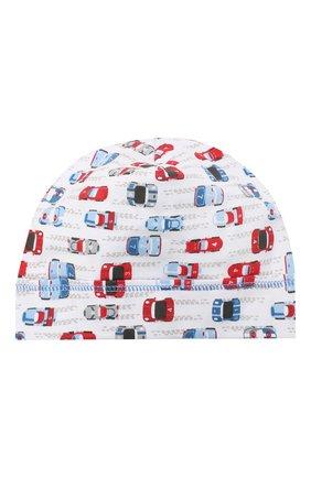 Детского хлопковая шапка MAGNOLIA BABY голубого цвета, арт. 979-50P-LB | Фото 1