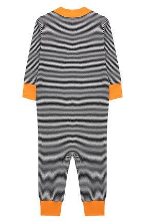 Детский хлопковый комбинезон MAGNOLIA BABY темно-синего цвета, арт. 835A-ZP-NV | Фото 2