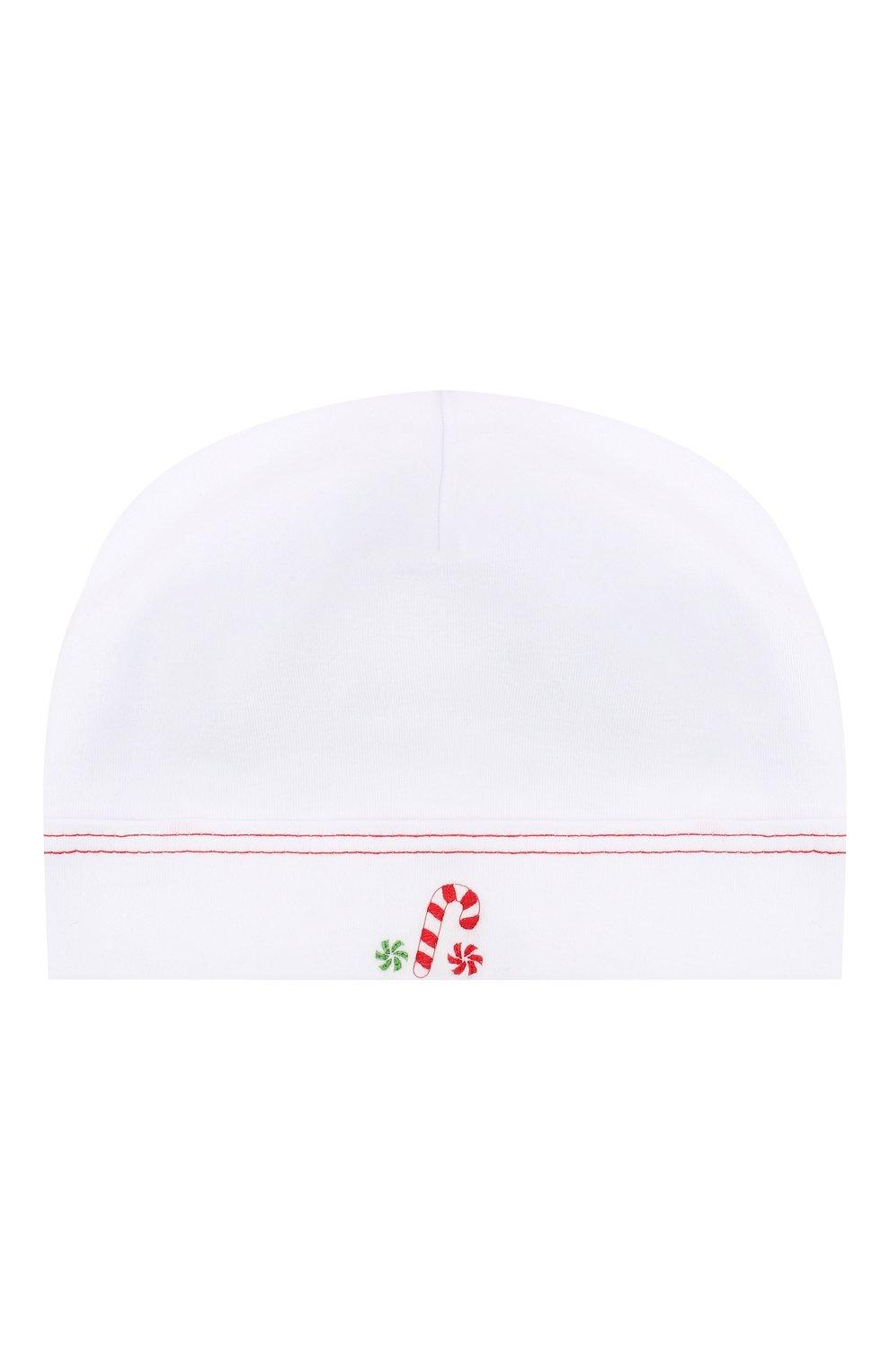 Детского хлопковая шапка MAGNOLIA BABY белого цвета, арт. 969-50B-WHRD   Фото 1 (Материал: Текстиль, Хлопок)
