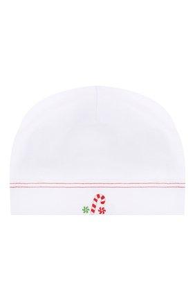 Детского хлопковая шапка MAGNOLIA BABY белого цвета, арт. 969-50B-WHRD | Фото 1