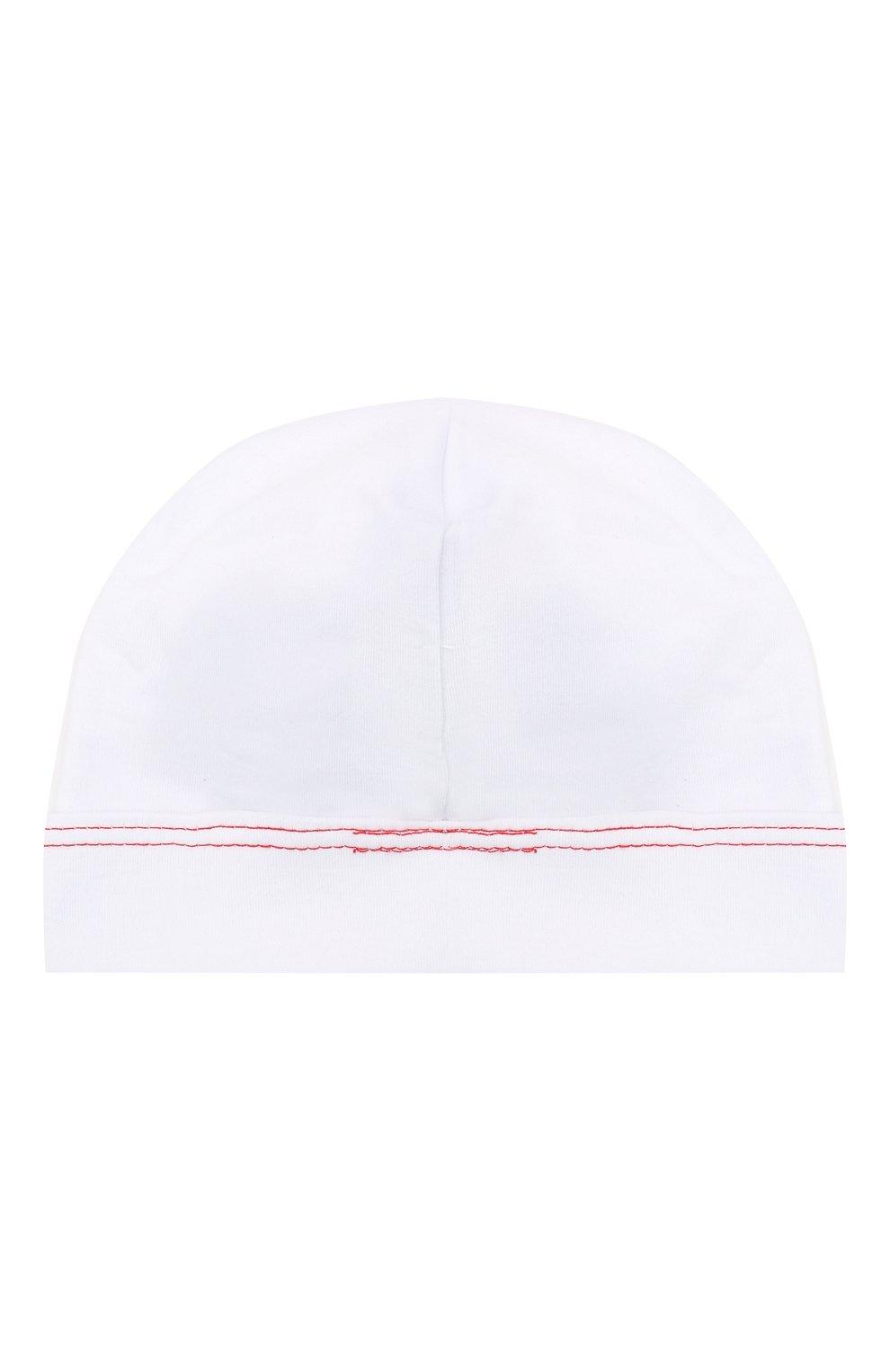 Детского хлопковая шапка MAGNOLIA BABY белого цвета, арт. 969-50B-WHRD   Фото 2 (Материал: Текстиль, Хлопок)