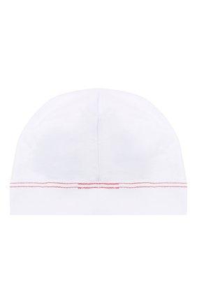 Детского хлопковая шапка MAGNOLIA BABY белого цвета, арт. 969-50B-WHRD | Фото 2
