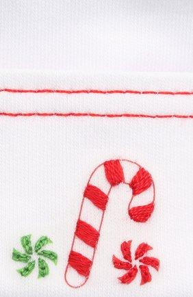 Детского хлопковая шапка MAGNOLIA BABY белого цвета, арт. 969-50B-WHRD   Фото 3 (Материал: Текстиль, Хлопок)