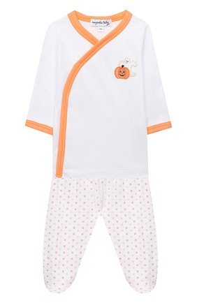 Детский комплект из распашонки и ползунков MAGNOLIA BABY оранжевого цвета, арт. 835-735-OR | Фото 1