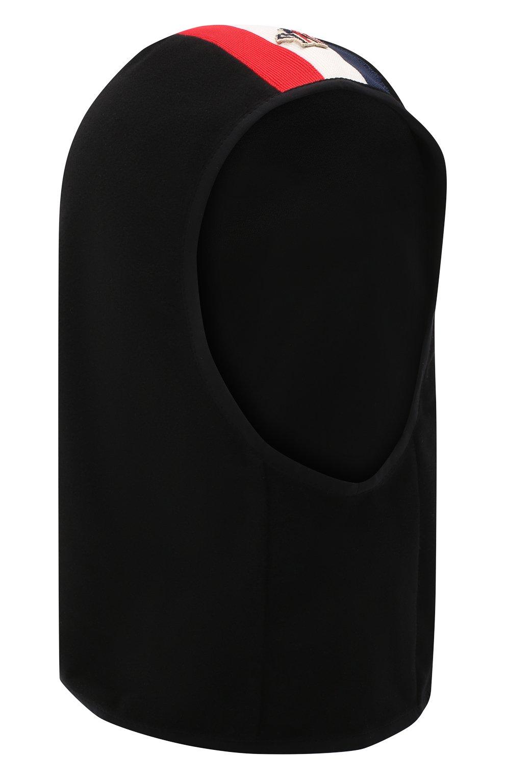 Детского шапка-балаклава MONCLER черного цвета, арт. F2-954-3G700-00-80093 | Фото 1 (Материал: Текстиль)