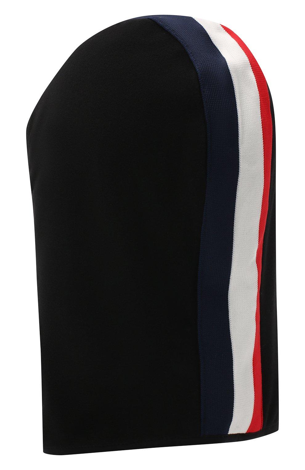 Детского шапка-балаклава MONCLER черного цвета, арт. F2-954-3G700-00-80093 | Фото 2 (Материал: Текстиль)