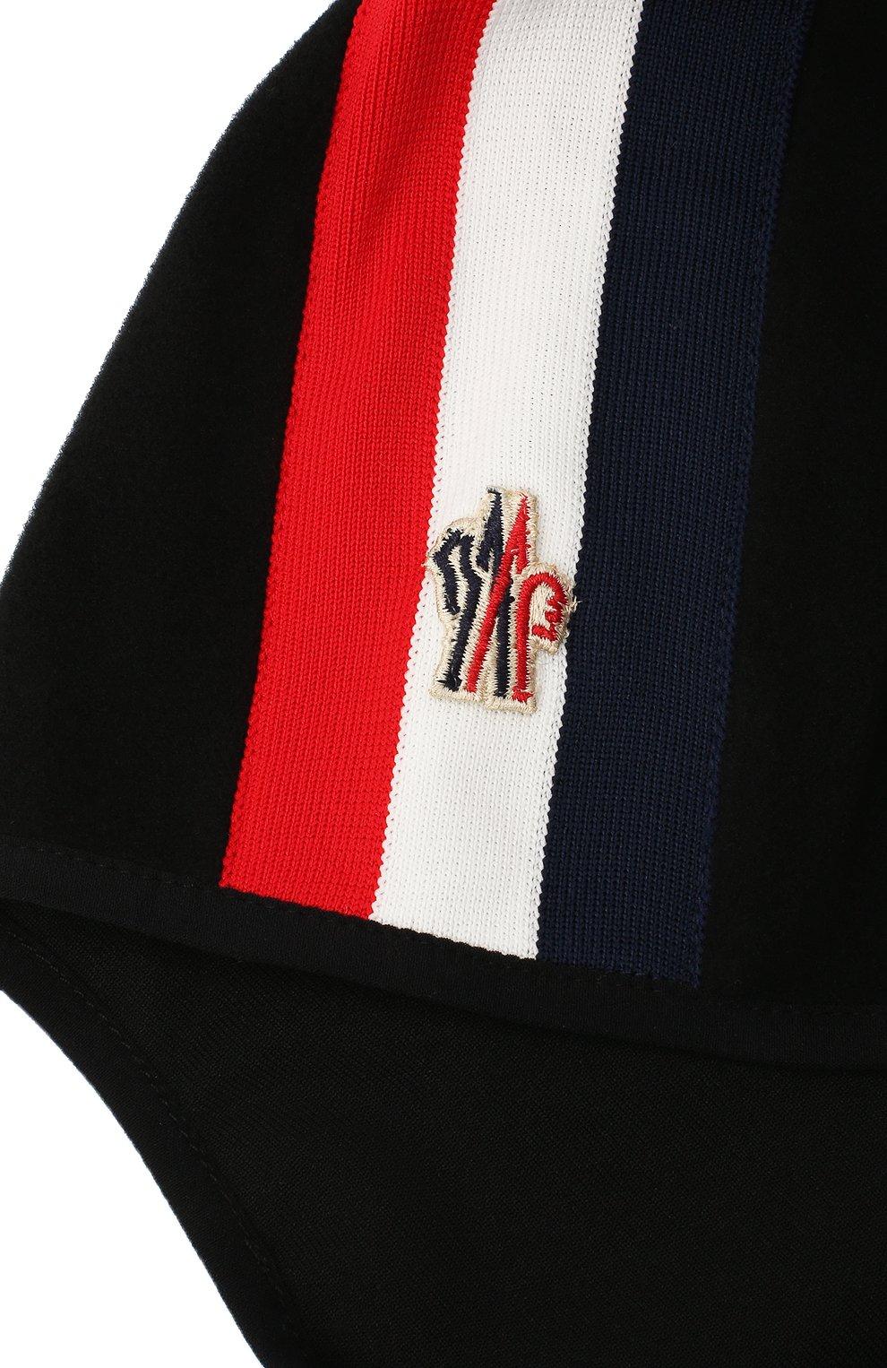 Детского шапка-балаклава MONCLER черного цвета, арт. F2-954-3G700-00-80093 | Фото 3 (Материал: Текстиль)