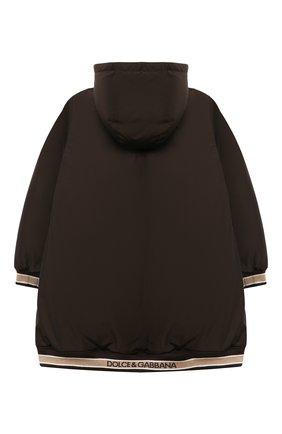 Детское пуховое пальто DOLCE & GABBANA коричневого цвета, арт. L5JBC1/FUMZI/8-14 | Фото 2