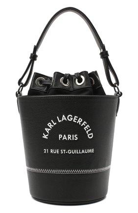Детская сумка KARL LAGERFELD KIDS черного цвета, арт. Z10087 | Фото 1