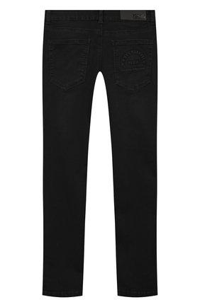 Детские джинсы KARL LAGERFELD KIDS черного цвета, арт. Z24105   Фото 2