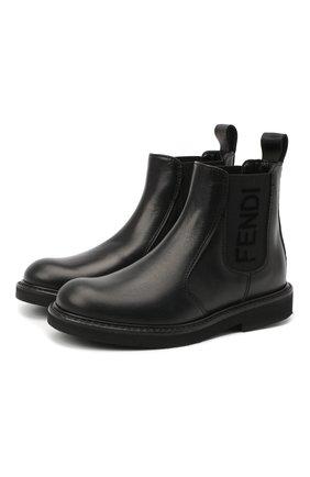 Детские кожаные челси FENDI черного цвета, арт. JMR342/AC7J/27-31 | Фото 1