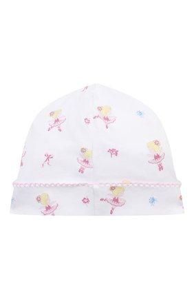 Детского хлопковая шапка KISSY KISSY розового цвета, арт. KG504839N | Фото 2