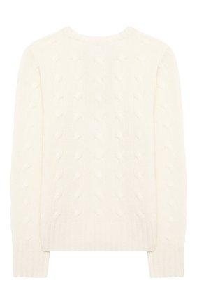 Детский кашемировый пуловер POLO RALPH LAUREN белого цвета, арт. 313562294 | Фото 2 (Рукава: Длинные; Материал внешний: Шерсть, Кашемир; Девочки Кросс-КТ: Пуловер-одежда; Ростовка одежда: 12 лет | 152 см, 8 лет | 128 см, 13 - 15 лет | 158 см)