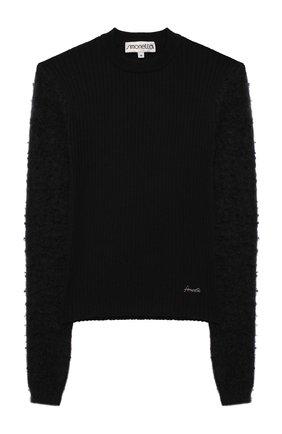 Детский шерстяной пуловер SIMONETTA черного цвета, арт. 1N9040/NF130/10-14+ | Фото 1