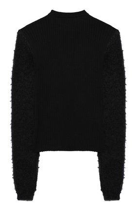 Детский шерстяной пуловер SIMONETTA черного цвета, арт. 1N9040/NF130/10-14+ | Фото 2