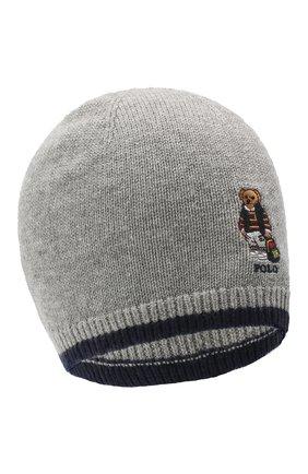 Детского шерстяная шапка RALPH LAUREN серого цвета, арт. 323800028   Фото 1