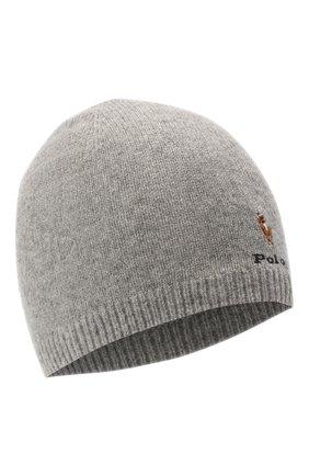 Детского шерстяная шапка RALPH LAUREN серого цвета, арт. 323800021   Фото 1