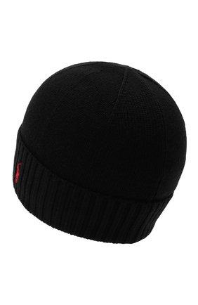 Детского шерстяная шапка RALPH LAUREN черного цвета, арт. 323773426 | Фото 2