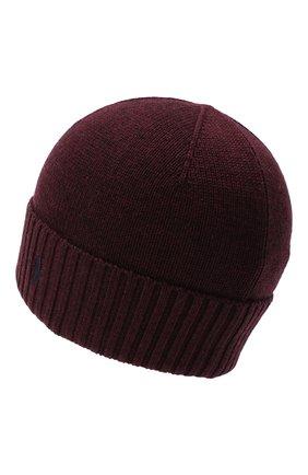Детского шерстяная шапка RALPH LAUREN бордового цвета, арт. 323773426 | Фото 2
