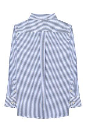 Детская хлопковая рубашка RALPH LAUREN голубого цвета, арт. 322819240 | Фото 2