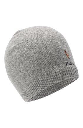 Детского шерстяная шапка RALPH LAUREN серого цвета, арт. 322800021   Фото 1