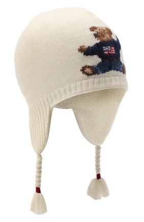 Детского шерстяная шапка RALPH LAUREN бежевого цвета, арт. 313761685 | Фото 1