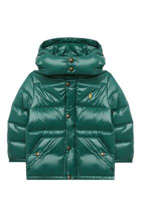 Детский пуховая куртка RALPH LAUREN зеленого цвета, арт. 321795538 | Фото 1