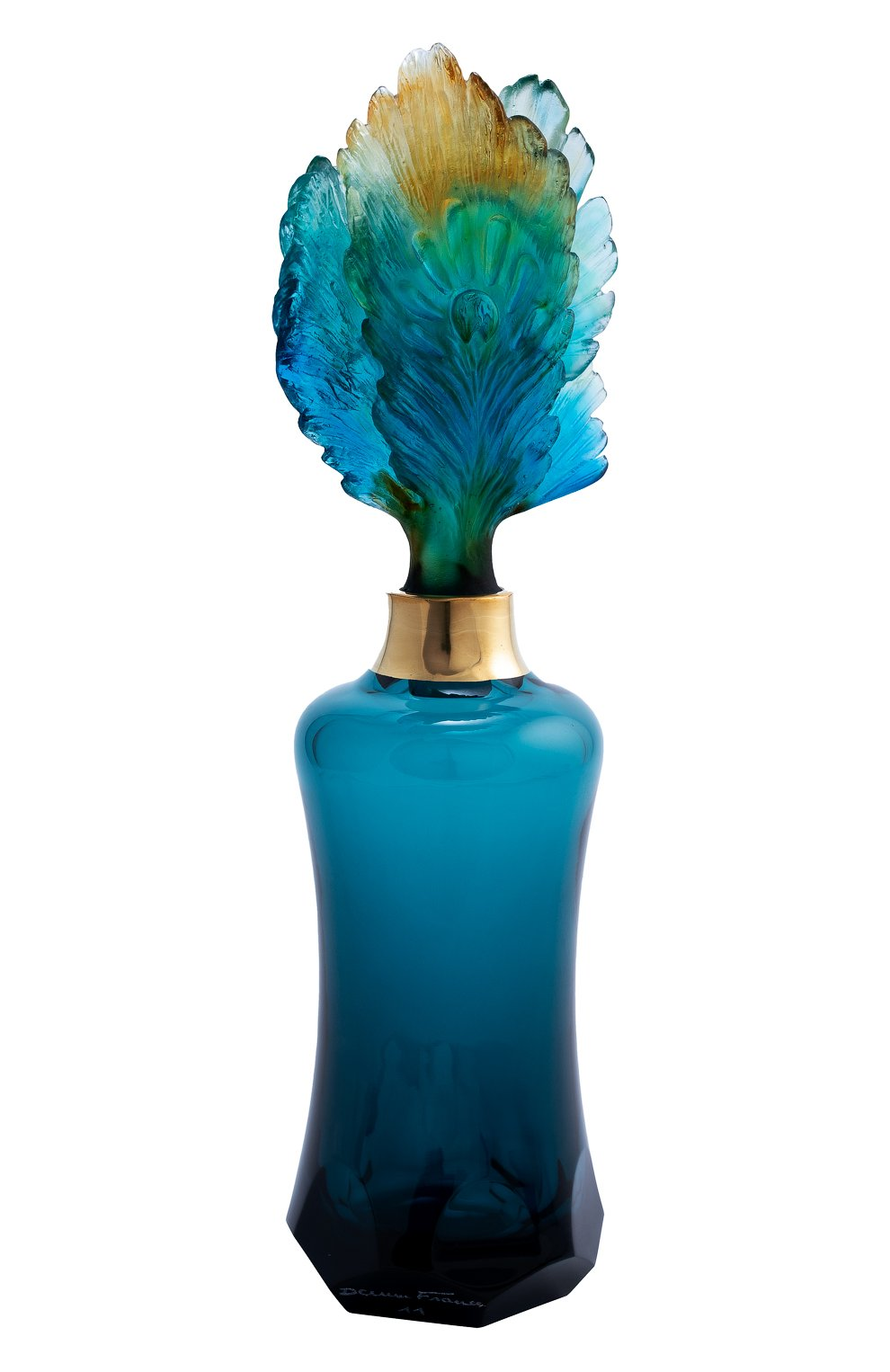Мужского флакон для духов fleur de paon prestige DAUM синего цвета, арт. 05700 | Фото 1