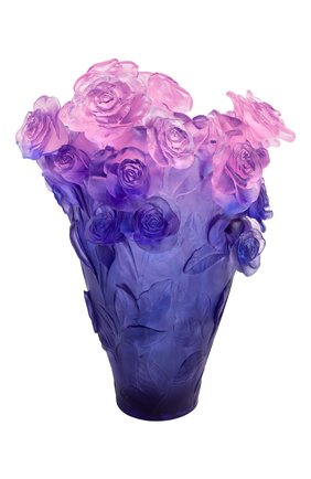Мужского ваза magnum roses DAUM синего цвета, арт. 05106-10 | Фото 1
