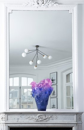 Мужского ваза magnum roses DAUM синего цвета, арт. 05106-10 | Фото 2