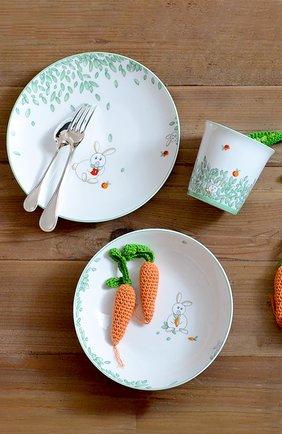 Набор из тарелки и стаканчика petit boulingrin BERNARDAUD зеленого цвета, арт. 1755/6008   Фото 2