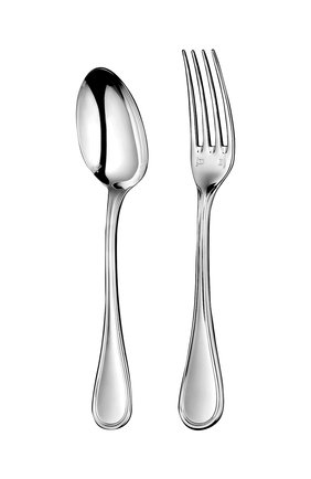 Мужского детский набор из 2-х предметов albi CHRISTOFLE серебряного цвета, арт. 01407117   Фото 1