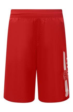 Мужские плавки-шорты GUCCI красного цвета, арт. 627275/XHAC3 | Фото 1