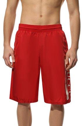 Мужские плавки-шорты GUCCI красного цвета, арт. 627275/XHAC3 | Фото 2