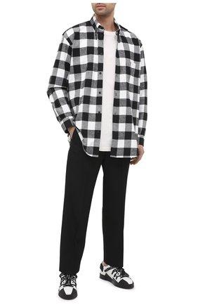Мужские кожаные кеды portofino DOLCE & GABBANA черно-белого цвета, арт. CS1808/AW184 | Фото 2