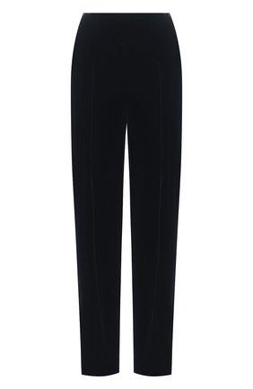 Женские брюки из вискозы и шелка GIORGIO ARMANI синего цвета, арт. 0WHPP0DG/T01FD | Фото 1