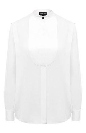 Женская шелковая блузка GIORGIO ARMANI белого цвета, арт. 0WHCCZ31/TZ121 | Фото 1