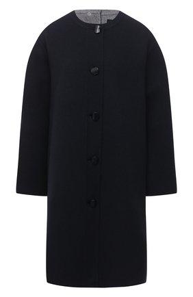 Женское шерстяное пальто GIORGIO ARMANI синего цвета, арт. 0WH0L04T/T01VF | Фото 1