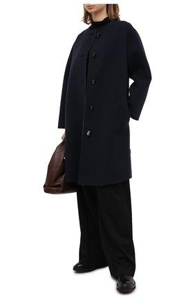 Женское шерстяное пальто GIORGIO ARMANI синего цвета, арт. 0WH0L04T/T01VF | Фото 2
