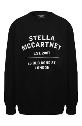 Женская хлопковый свитшот STELLA MCCARTNEY черного цвета, арт. 601847/SMP83 | Фото 1