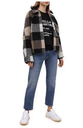 Женская хлопковый свитшот STELLA MCCARTNEY черного цвета, арт. 601847/SMP83 | Фото 2
